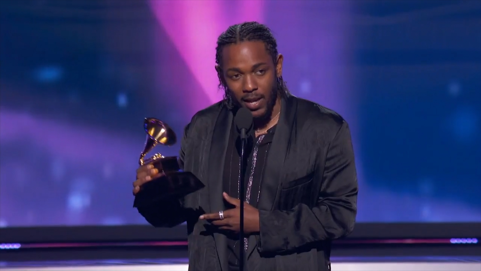 Jay Z 'for president': Kendrick Lamar casts his vote during Best Rap Album speech at 2018 Grammys