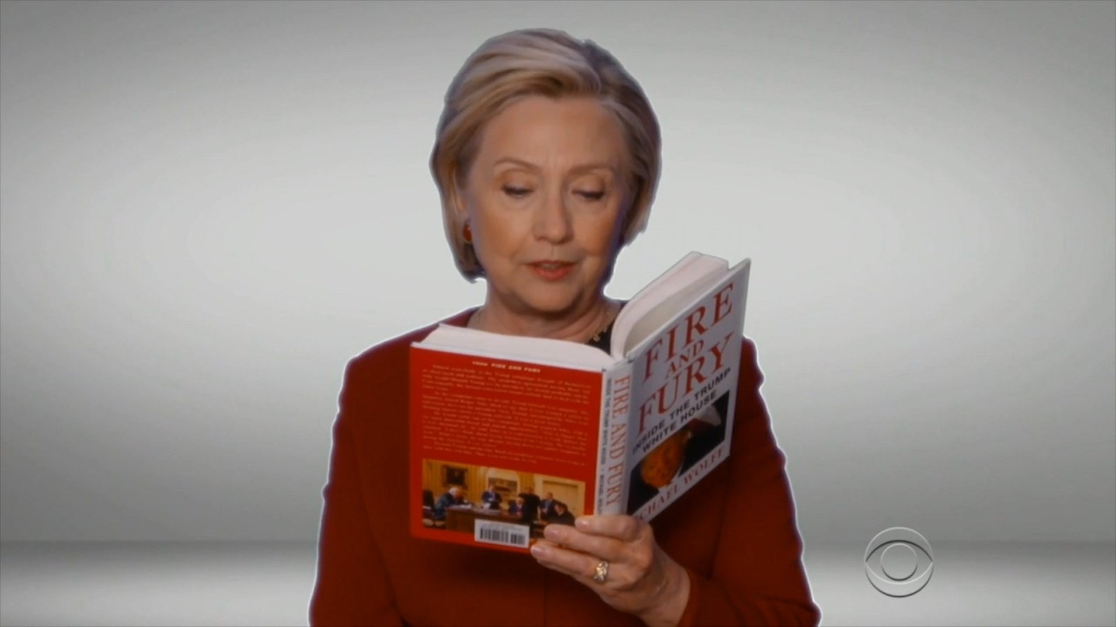 Hillary Clinton, Cardi B and other celebrities read 'Fire and Fury' in 2018 Grammys skit