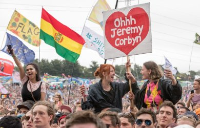 Jeremy Corbyn at Glastonbury Festival 2017