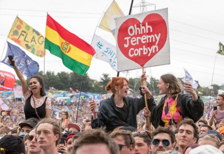 Jeremy Corbyn at Glastonbury Festival 2017