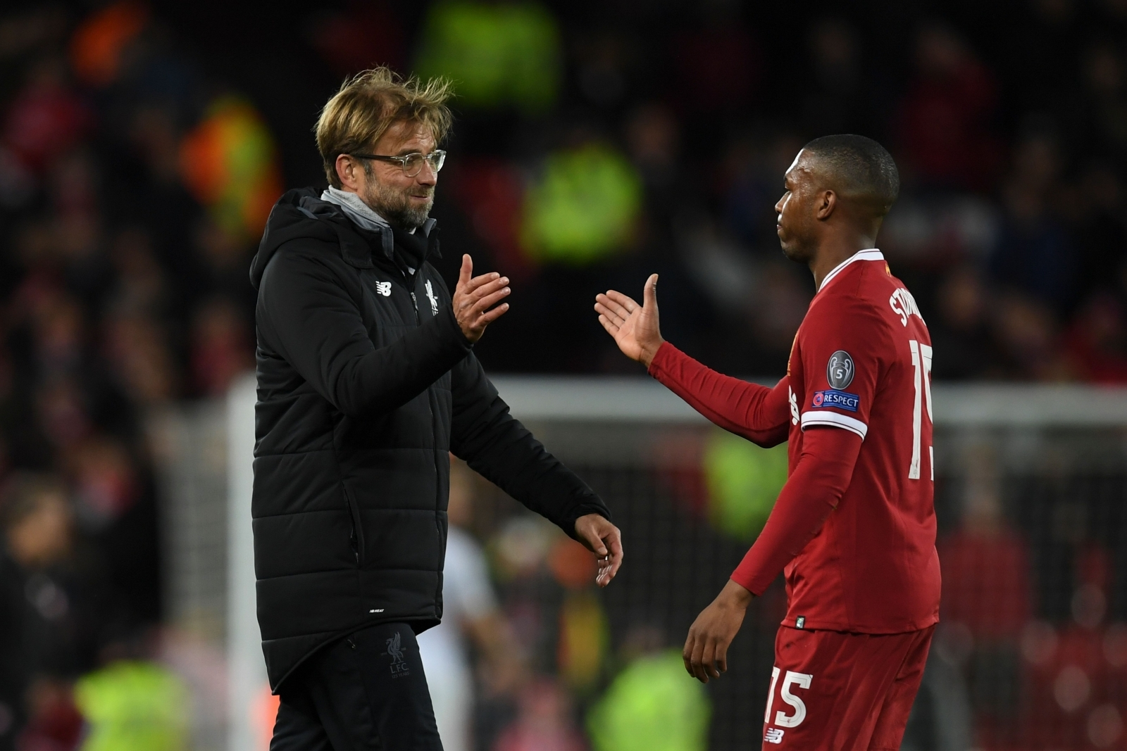 Jurgen Klopp and Daniel Sturridge