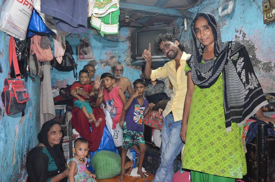 Slum hotel family
