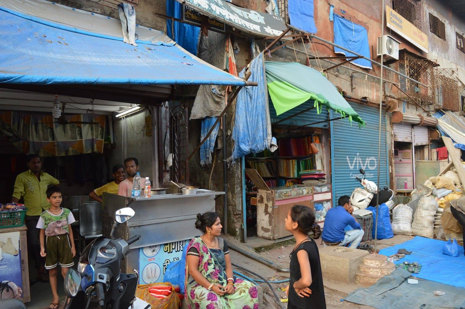 Slum hotel entrance