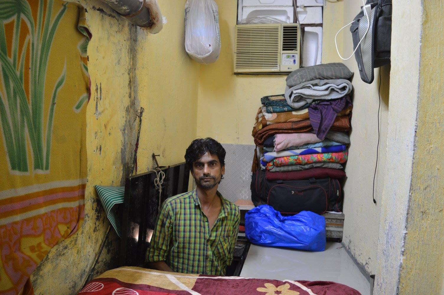 Slum hotel bedroom