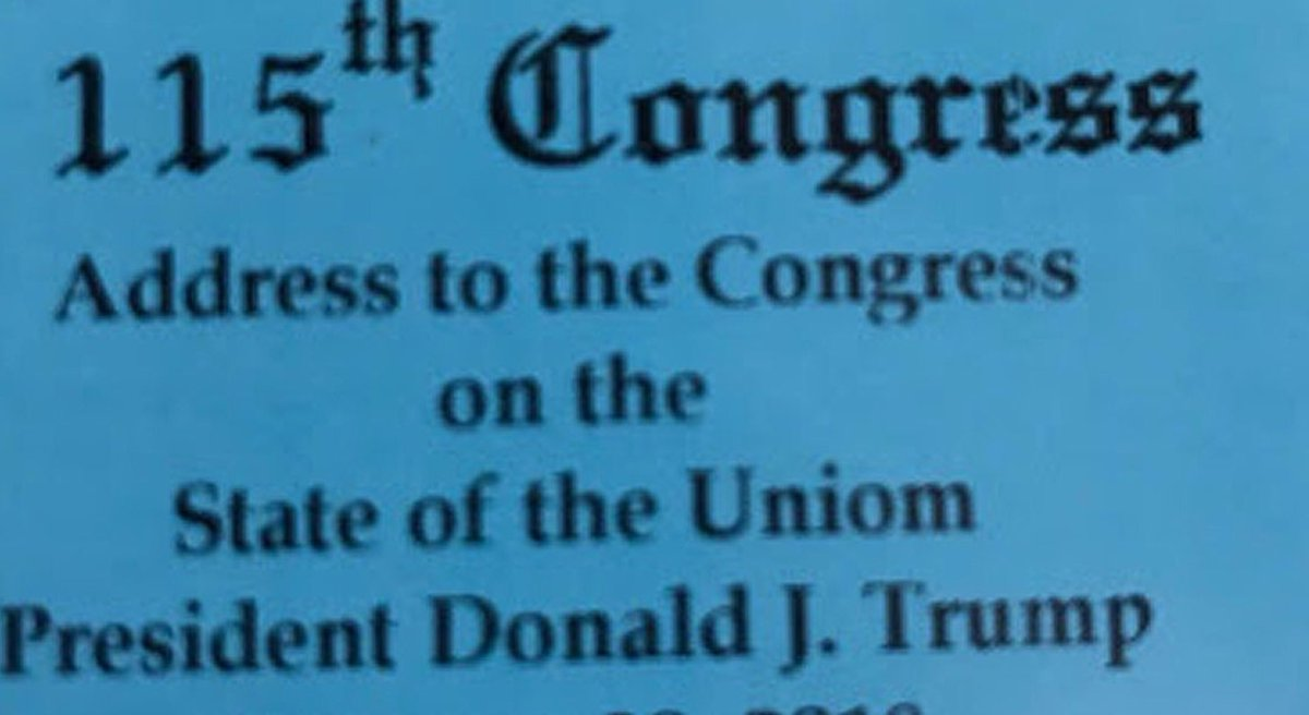 State of the Uniom ticket