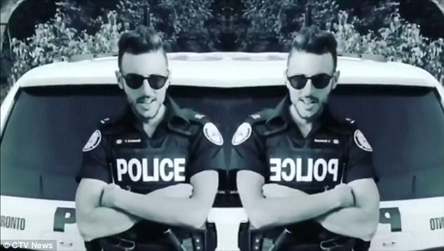Constable Vito Dominelli (pictured) and his partner Jamie Young are under investigation for allegedly eating marijuana edibles on duty and having to call for back up