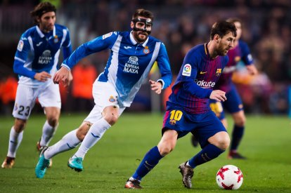 David Lopez and Lionel Messi