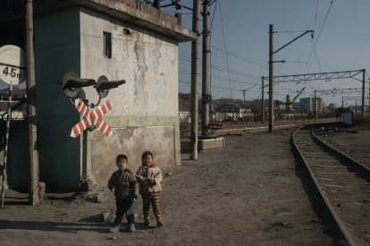 North Korean children in Chongjin