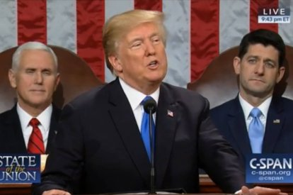 President Trump Calls For Unity In State Of The Union Speech