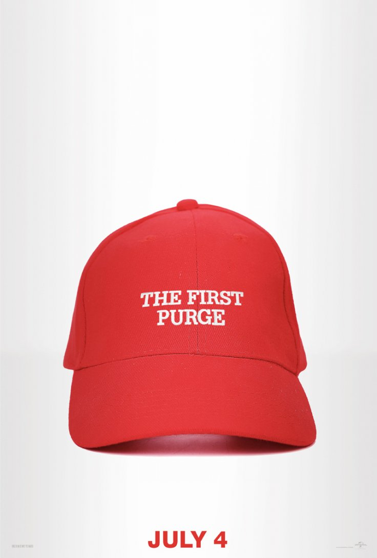 The First Purge poster Trump
