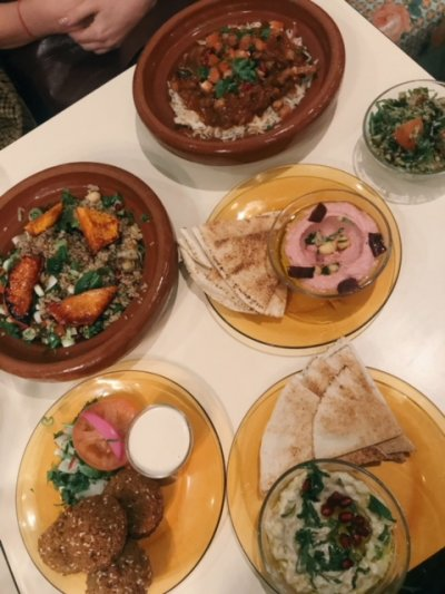 Lebanese vegan food
