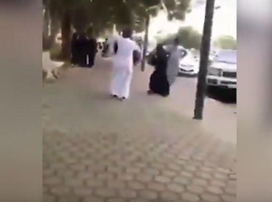 Saudi couple dancing