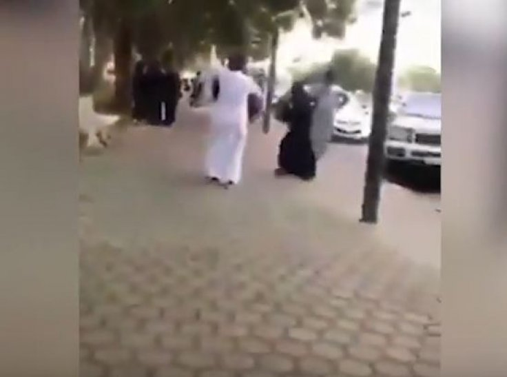 Saudi couple dancing