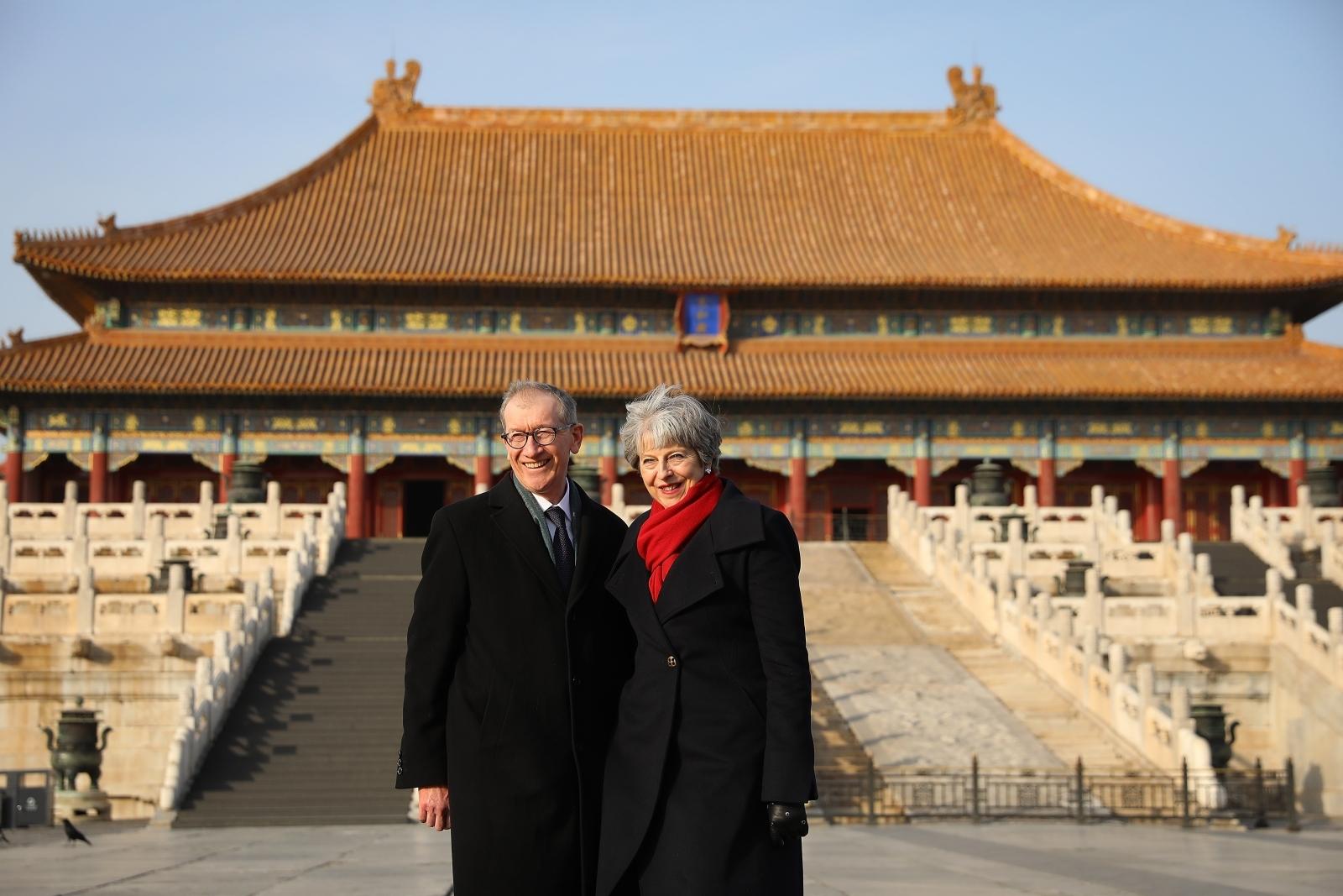 Theresa May and Philip May in China