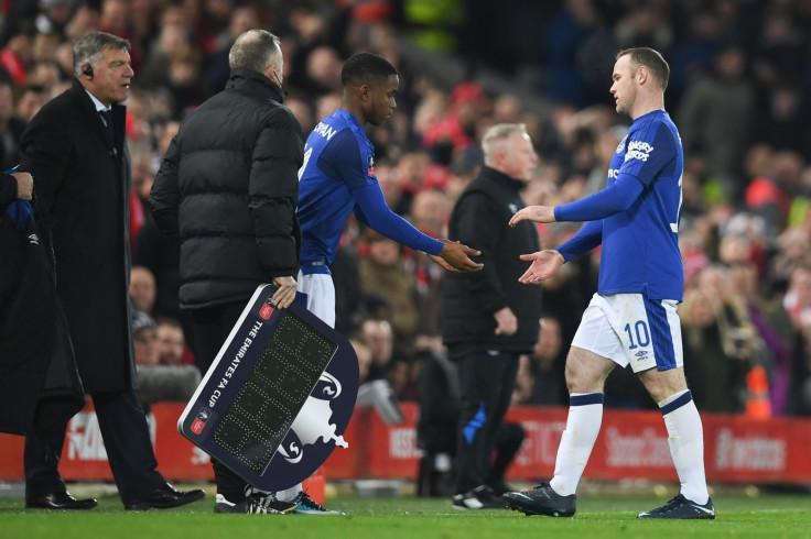 Sam Allardyce, Ademola Lookman and Wayne Rooney