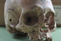 Repton Great Viking Army human skull