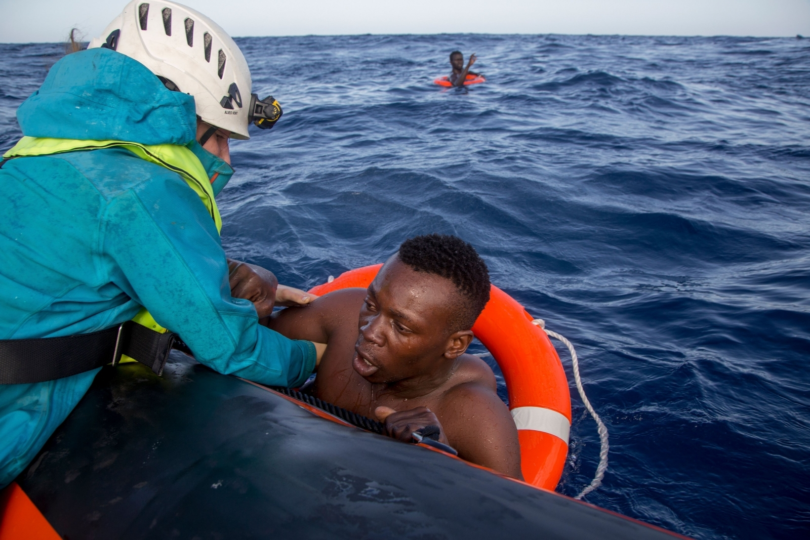 Migrant rescued in the Mediterranean
