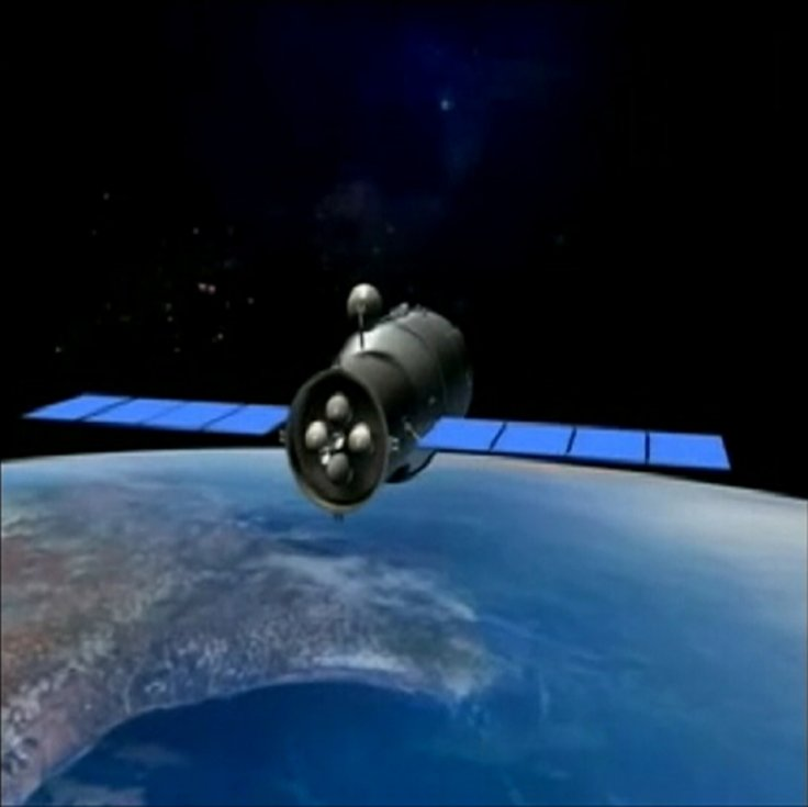Video grab of 3D animation of China's Tiangong-1 space module