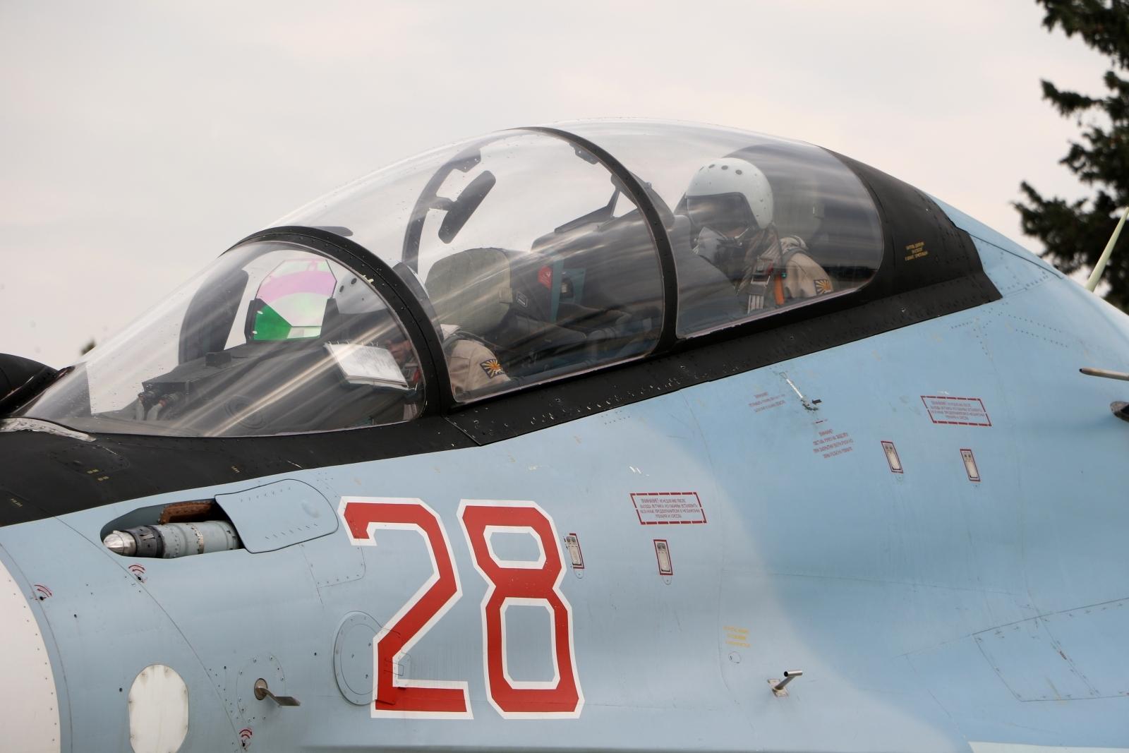 Russian Su-30SM fighter in Syria