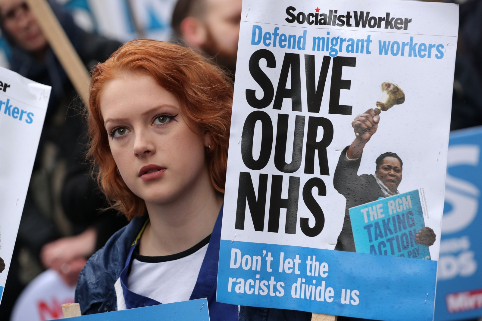 """""""No Ifs, No Buts, No NHS Cuts"""" - Thousands March On Downing Street Over NHS Crisis"""
