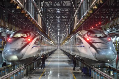 China Lunar New Year travel trains