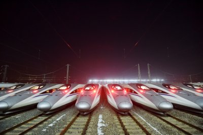 China Lunar New Year travel trains