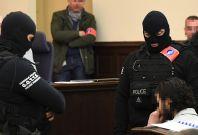 Salah Abdeslam on trial in Brussels