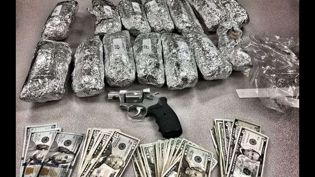 Los Angeles cops confiscated 14 burritos which were stuffed with 25 pounds of methamphetamine during a routine traffic stop