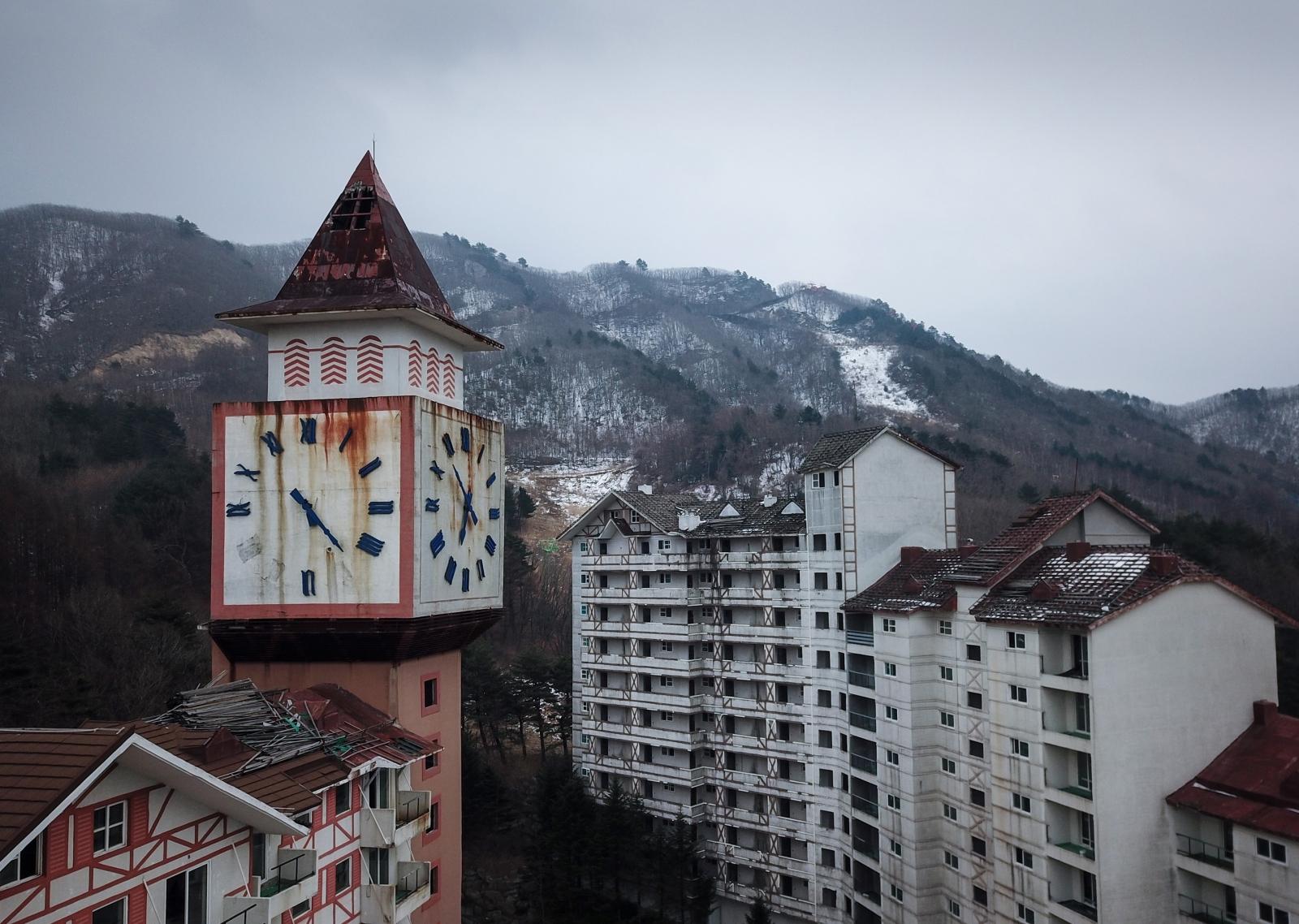 Abandoned ski resort South Korea