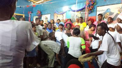 A vodou ceremony in Haiti