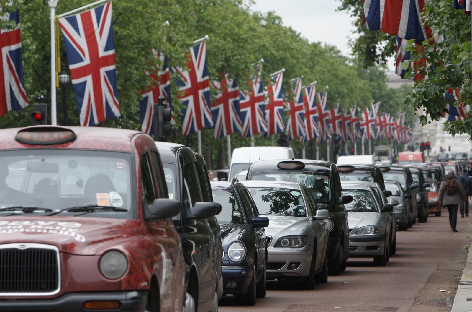 UK rush hour traffic