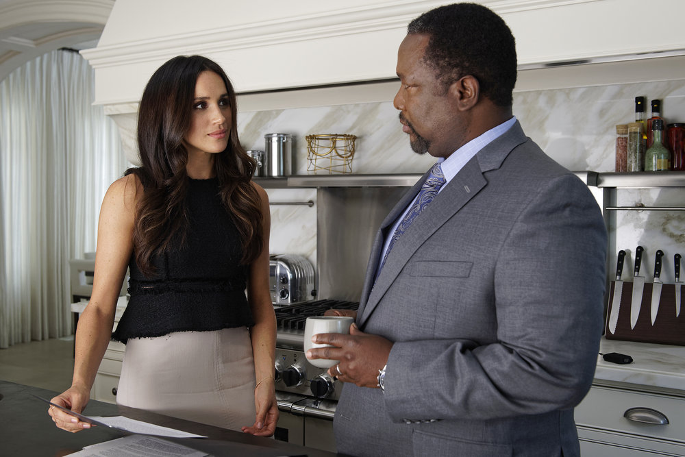 Meghan Markle and Wendell Pierce