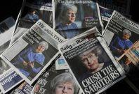 Theresa May newspaper