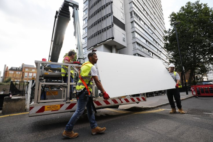Cladding removal post-Grenfell Tower disaster
