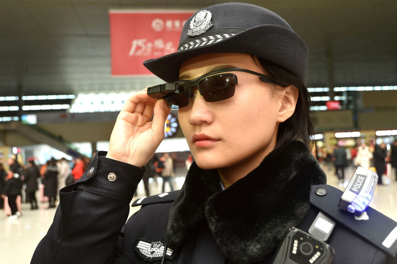 China police using smartglasses
