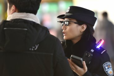 Chinese police are sporting high-tech sunglasses
