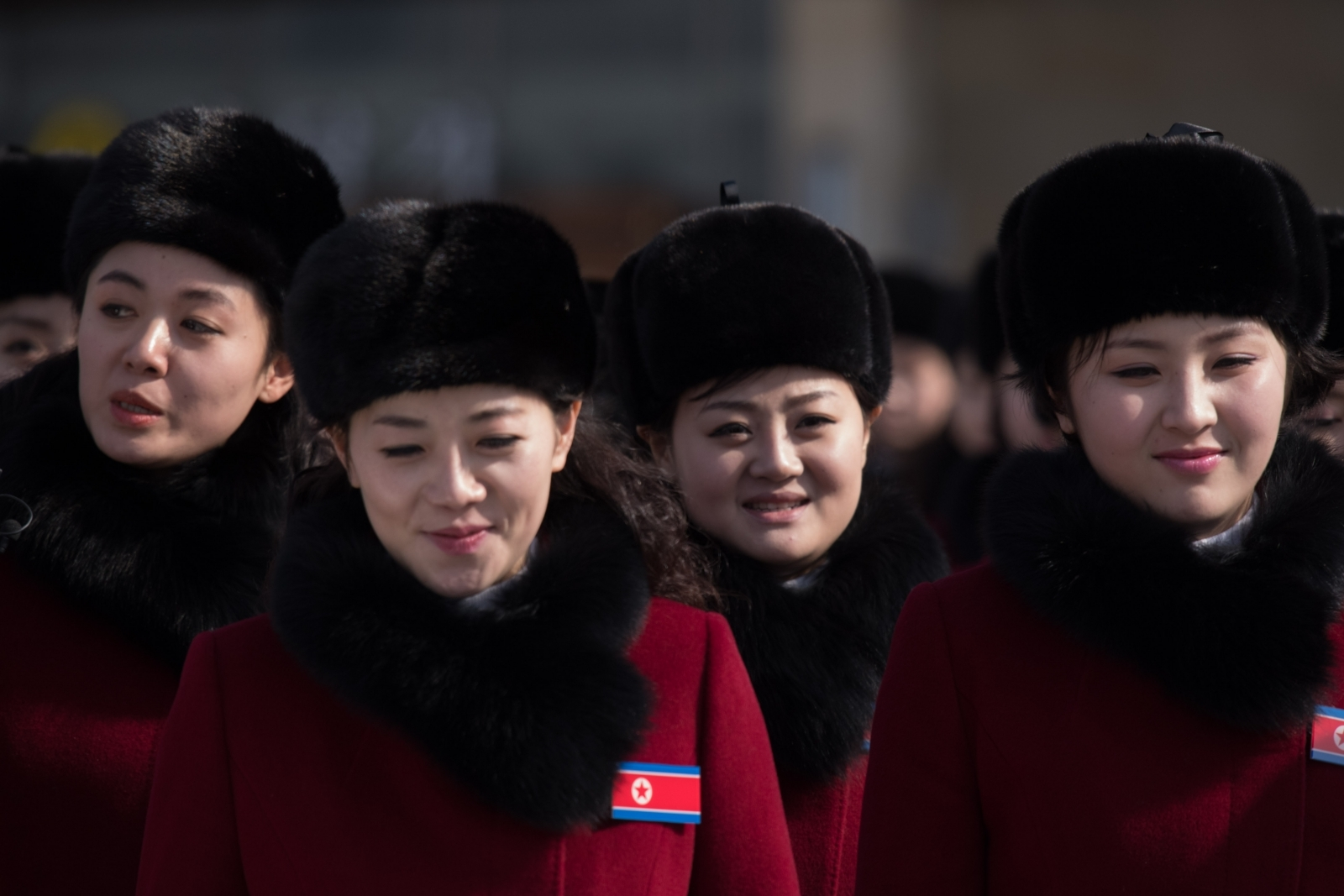North Korean cheerleaders Winter Olympics 2018