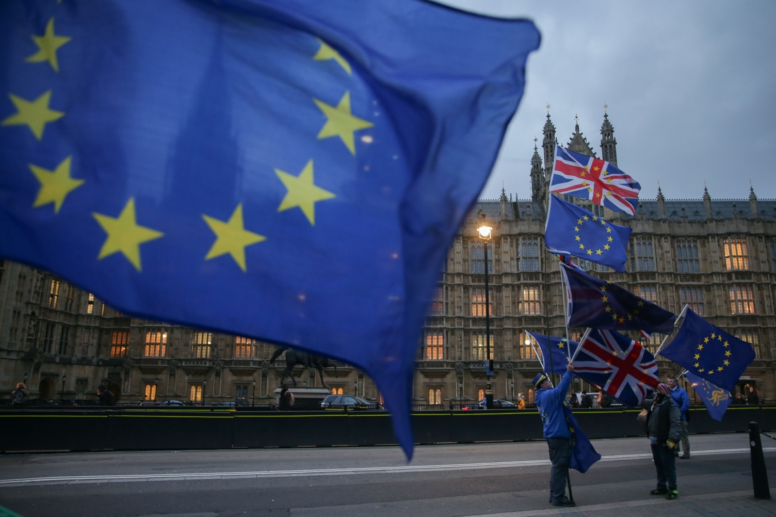 Pro-EU anti-Brexit demonstrators in London