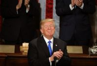 President Trump Addresses The Nation In His First State Of The Union Address To Joint Session Of Congress