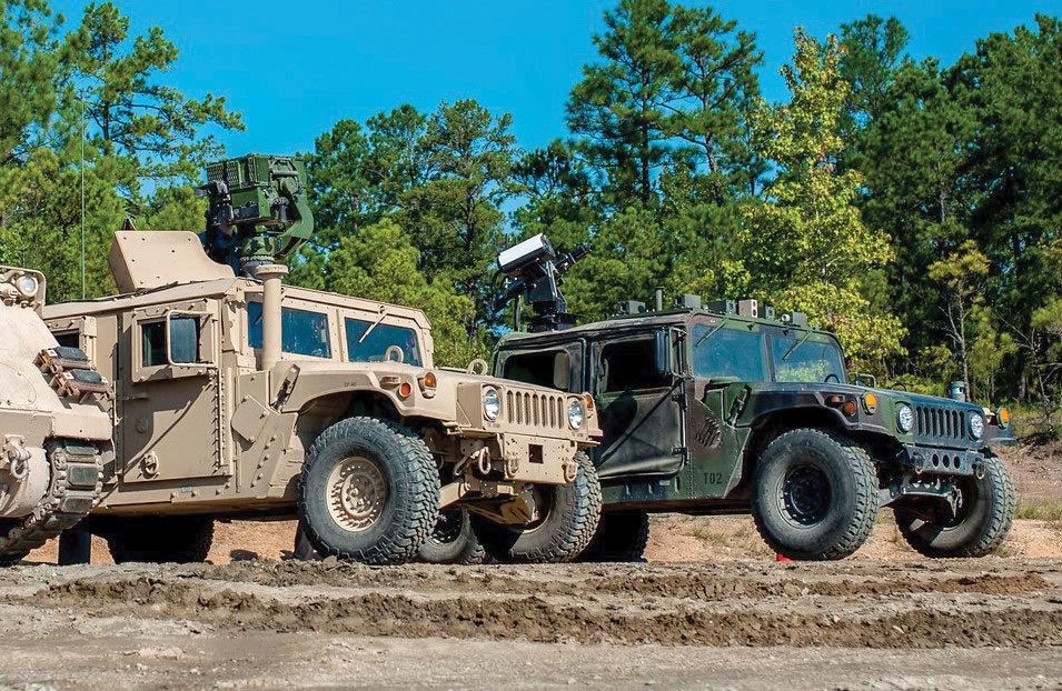 Wingman robotic Humvee