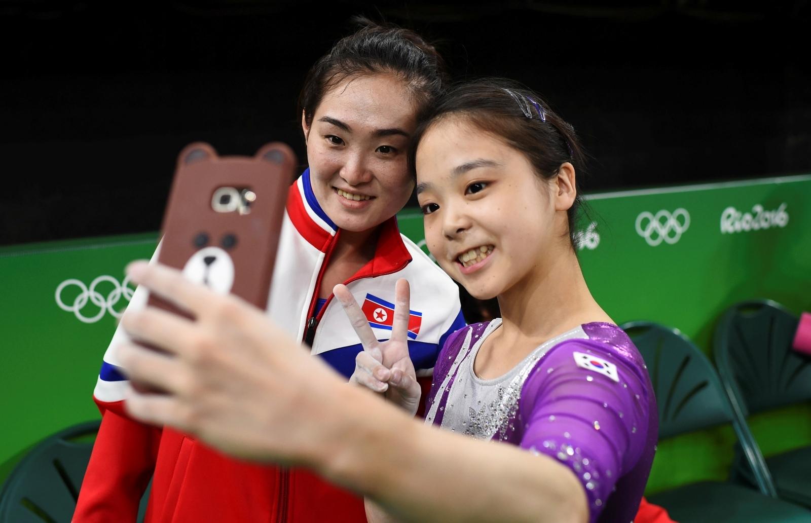 Nort South Korea selfie