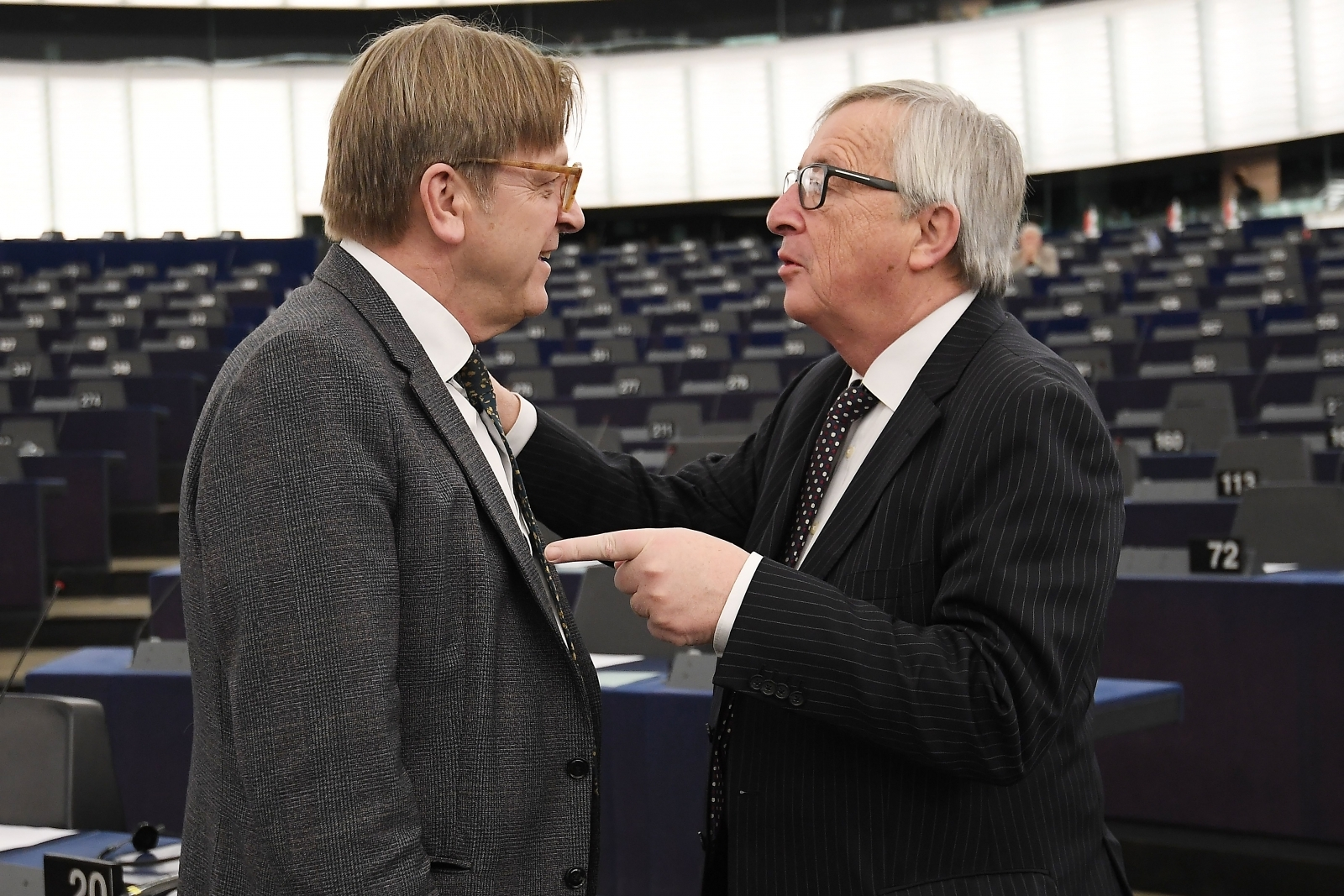 Jean-Claude Juncker and Guy Verhofstadt