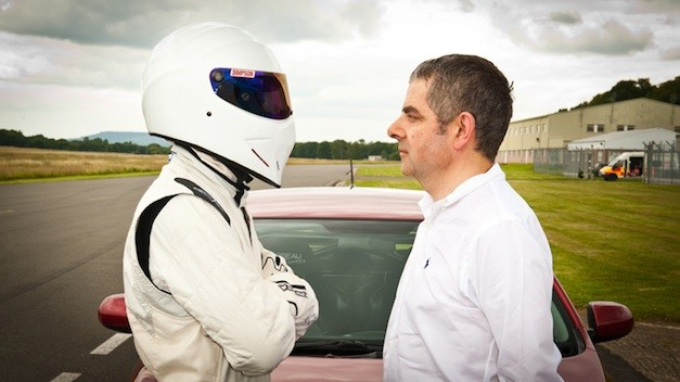 Rowan Atkinson with Stig