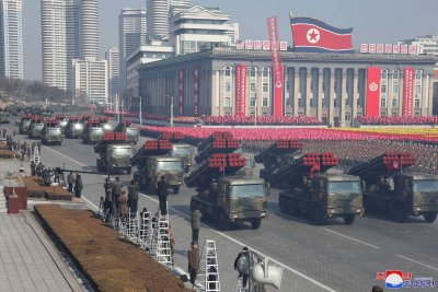 North Korea grand military parade