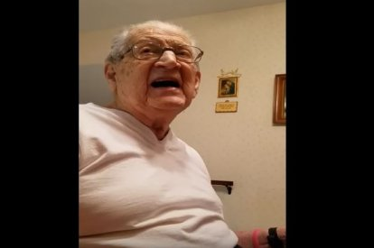 98-year-old man can't believe age