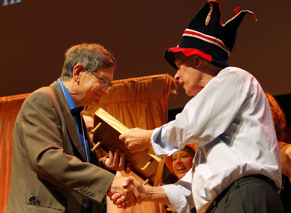 Karl Halvor Teigen receives an Ig Nobel prize