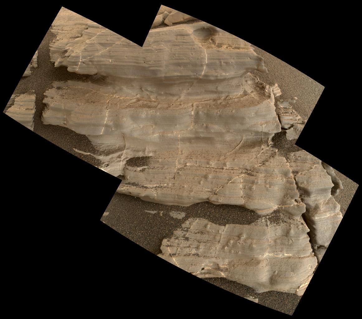 Gypsum crystals on Mars