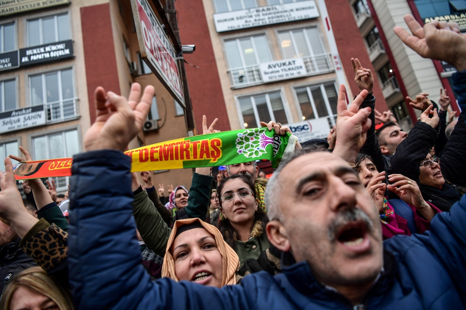 HDP supporters of Selahattin Demirtas in Istanbul