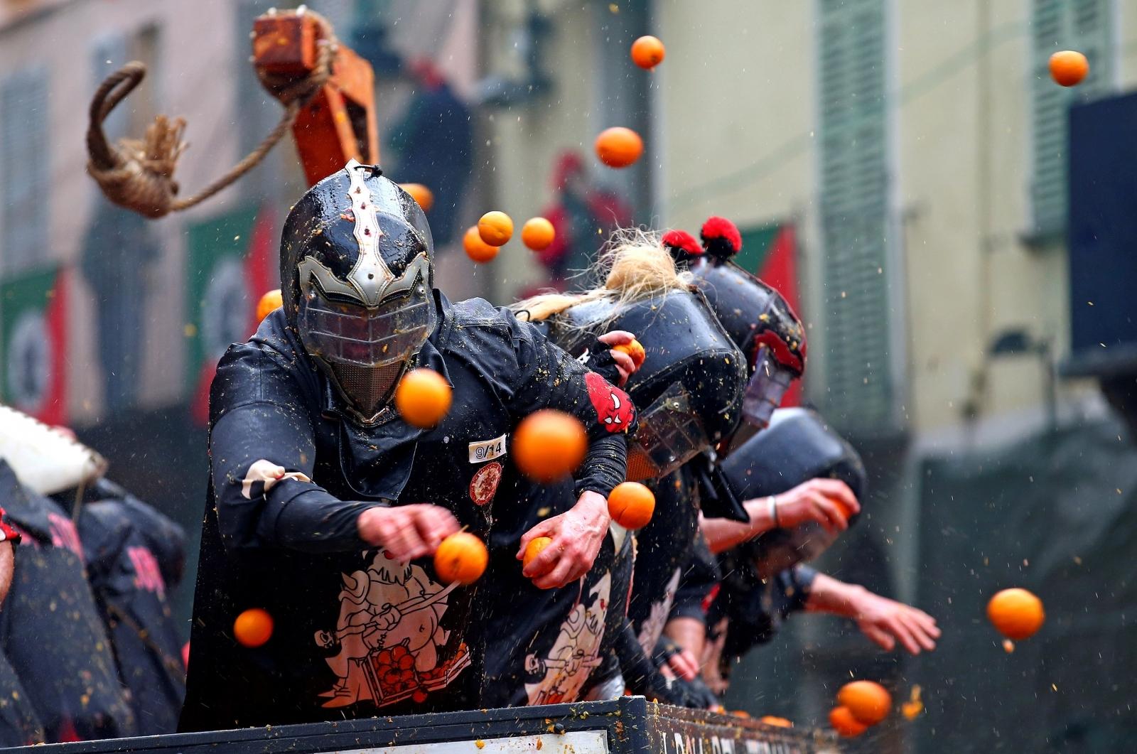 Ivrea carnival 2018 oranges