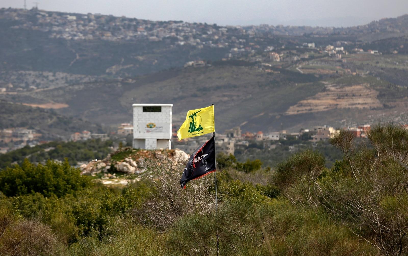 Hezbollah flags seen on Israel-Lebanon border